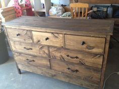 Diy Dumpster Dresser From 2x4s Furniture Pinterest Woodworking And