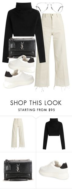 """""""Untitled #20570"""" by florencia95 ❤ liked on Polyvore featuring Rachel Comey, Valentino, Yves Saint Laurent, Jeffrey Campbell and Ray-Ban"""