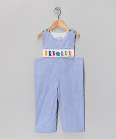 Take a look at this Blue Gingham Children of the World Overalls - Infant & Toddler by Molly Pop Inc. on #zulily today!