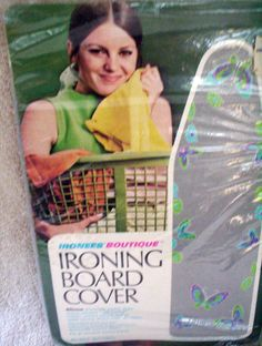 Vintage ironing board cover with pretty purple and by LandofCute
