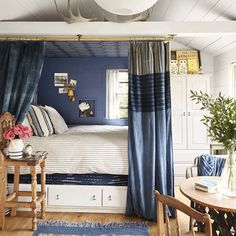 Believe it or not, there are benefits to decorating a small bedroom. From brilliant storage to multipurpose furniture, see 15 small bedroom ideas with tons of style. Cozy Bedroom, Modern Bedroom, Bedroom Decor, Bedroom Ideas, White Bedroom, Bed Ideas, Bedroom Inspiration, Tree Bedroom, Bedroom Inspo
