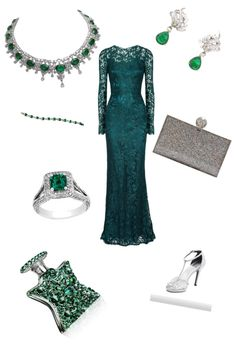 """emerald"" by becky-m-harvey-moreau ❤ liked on Polyvore"