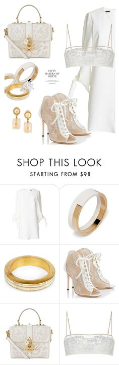"""""""White with lace"""" by interesting-times ❤ liked on Polyvore featuring TIBI, Marni, Parts of Four, Jimmy Choo, Dolce&Gabbana and Chanel"""