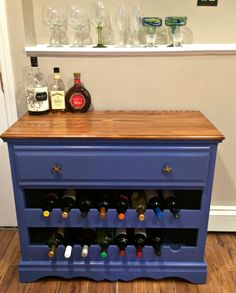 Do you need inspiration to re-purpose your old dresser? Check out my wine bar / Wine rack for inspiration!