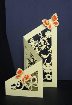 Tri Fold Card Templete Free | Butterfly Cut Out Template - Ajilbab.Com Portal