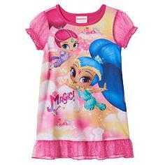 "Toddler Girl Shimmer and Shine ""It's Magic"" Dorm Nightgown"