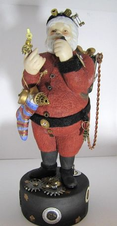 Upcycled Steampunk Santa by SteampunkPerceptions