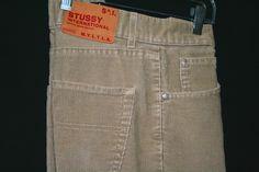 Stussy International Men's Tan Corduroy Pants 34 29 Straight Leg Button Fly | eBay