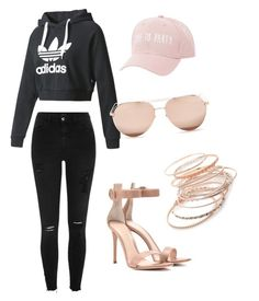 Dreaming by labloggerglossy on Polyvore featuring moda, adidas, River Island, Gianvito Rossi, Red Camel, Charlotte Russe and Linda Farrow