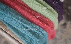 Stretch Knit Baby Wrap Bundle Newborn, Photo Prop, Baby Knit Wrap, PLUM Photography set-up, draping set. $10.99, via Etsy.