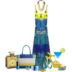 hi-lo summer dress by josiriou on Polyvore