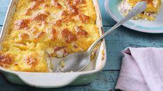 Brindzás rakott puliszka Vegetarian Recipes, Healthy Recipes, Healthy Food, One Pot Meals, Mozzarella, Macaroni And Cheese, Gluten Free, Face Book, Vegan