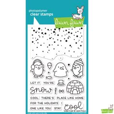 PRE-ORDER Lawn Fawn Snow Cool Stamp Set