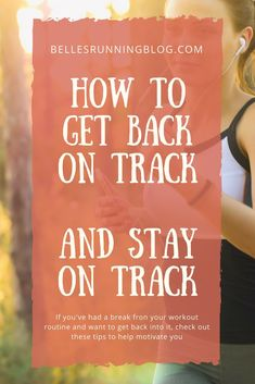 Read these 20 ways to get back on track when you've lost your motivation and how to keep it!