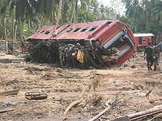 The 2004 Sri Lanka tsunami-rail disaster was a rail disaster with the highest count of deaths in history. It occurred when a crowded passenger train was destroyed on a coastal railway in Sri Lanka by the tsunami which followed the 2004 Indian Ocean Earthquake, and resulted in the greatest loss of life in railroad history. More than 1,700 people died, much higher than the previous rail disaster with most fatalities, the Bihar train disaster in India in 1981.
