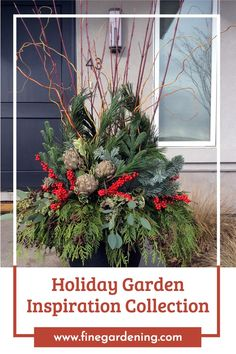 If you are looking for holiday decorating inspiration, there's no better place to look than our past Garden Photos of the Day. Outdoor Christmas Planters, Christmas Porch, Outdoor Christmas Decorations, Tree Decorations, Christmas Wreaths, Christmas Crafts, Christmas Ornaments, Christmas Ideas, Christmas Flowers