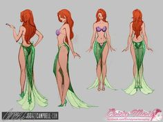 Comic Character Drawings j scott campbell ariel Female Character Design, Character Modeling, Character Art, J Scott Campbell, Disney Kunst, Disney Art, Ariel Costumes, Sexy Disney Costumes, Fairytale Fantasies