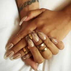 """Negative space for the lovely @nadineartois today @imarninails  #nailart #nails #thenaillife #nude #gold #negativespace #ballarinanails"" Photo taken by @glitterlovespaint on Instagram, pinned via the InstaPin iOS App! http://www.instapinapp.com (06/08/2015)"