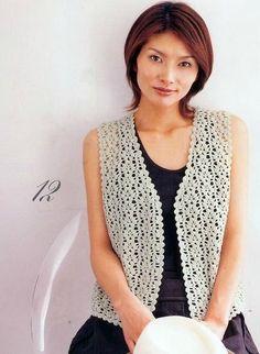 Crochet un gilet sans manches - la Grenouille tricote