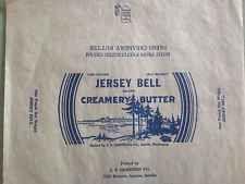Vintage Jersey Bell Creamery Butter Wrapper - Seattle