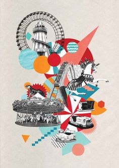 RETRO COLLAGE ILLUSTRATION by CIARA PHELAN'S. Fun and ambitious.