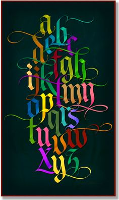 A new project adding color to LHF Tributary / Tributary Color / Letterform Design Font / LHF Tributary / Old English Fonts, Calligraphy, Gothic Fonts