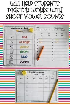 These hands-on and engaging short vowels word work activities will help students master the short vowel sounds and short vowel word families! With hands-on building, sorting, reading, and writing activities, these centers will be a student favorite! #shortvowels #phonics #wordwork #spelling #ELA #elementary #teaching #bundle