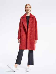Max Mara GAETA rouge: Manteau en laine et mohair.