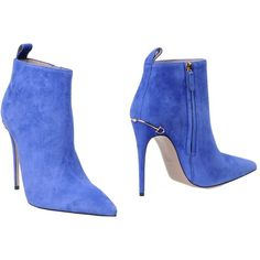 Gucci Ankle Boots ($561) ❤ liked on Polyvore featuring shoes, boots, ankle booties, blue, stiletto ankle boots, blue booties, blue bootie, short leather boots and blue ankle boots