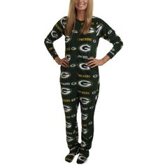 This is the greatest thing I've ever seen! Green Bay Packers Highlight Ladies Microfleece Union Suit.