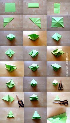 Anleitung für die Origami-Tanne