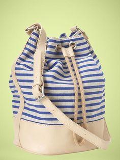 gap drawstring duffle bag