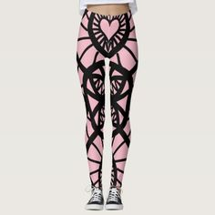 Heart lace Design Leggings - lace gifts style diy unique special ideas