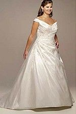 This wonderful Wedding Dresses  Off The Shoulder Sleeves A-Line Dress Delicate Embellishment Bodice Wedding Dress  This beatiful cheap wedding dresses use the Taffeta material, the front Off Shoulder neckline compose this elegant and charming dress. A-Line outline match with your unique and sexy appeal.Dressaler.com offer you the best Plus Size Wedding Dresses There must be one for you. - $185.39