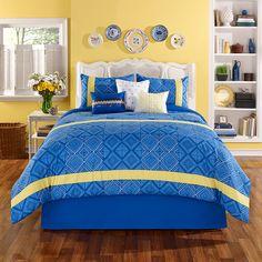 Casa Mia Puerto Plata Bonus Comforter Set. #BeddingStyle #bedroom