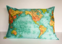 Awesome map pillow.