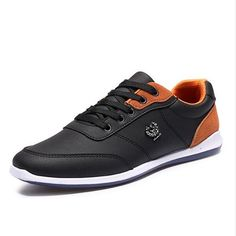 50cddb838 Men Casual Shoes Outdoor Walking Shoes Black Blue Casual Shoes Leather Shoes