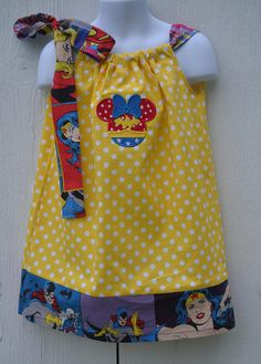 Wonder Woman Dress Minnie Girl Superhero Dress Pillowcase
