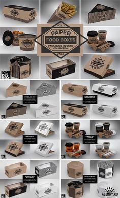 Food Box Packaging MockUps – 1107561 – Design is art Food Box Packaging, Bakery Packaging, Food Packaging Design, Burger Packaging, Cookie Packaging, Menue Design, Box Design, Café Mobile, Food Truck Business