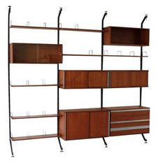 """Wall-unit by Ico Parisi, manufactured by """"Mobili Italiani Moderni"""". - See more at: http://www.deconet.com/item/case-pieces/wall-units/Wall-Unit-%22Urio%22-by-Ico-Parisi-for-MIM-Roma-by-Ico-Parisi-for-sale-id-337282#sthash.SHm5jmU6.dpuf"""