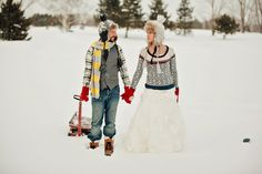 """Snow Angels (winter """"trash the dress"""" session)"""