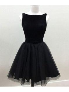 Custom Made Engrossing Black Prom Dresses, Black Tulle Short Prom Dress, Black Homecoming Dress Cute Prom Dresses, Dresses Short, Black Party Dresses, Tulle Prom Dress, Homecoming Dresses, Sexy Dresses, Evening Dresses, Fashion Dresses, Dress Black