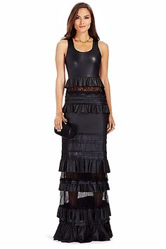 DVF Harley Tiered Leather Gown http://on.dvf.com/1g9y7SM