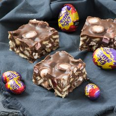 An Easter version of my easy-to-make rocky road recipe featuring Cadbury creme eggs.