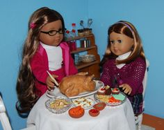 American Girl Doll Food. A Holiday Feast by FauxRealFood. The realism and detail is incredible.