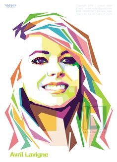 Avril Lavigne in WPAP by Limada Iqbal . . #wpap #popart #art #illustrator #illustration #vector #popart . for order please contact me..