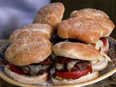 Memphis Beale Street Burger recipe from Patrick and Gina Neely via Food Network