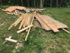 A customer in Davidsonville MD needed building and construction debris removed/ Took our 12 ft trailer full and completed the job 6/30/17