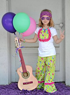 Guitar loving Mega Ruffle pants with ruffle by KSMonkeysBoutique, $50.00