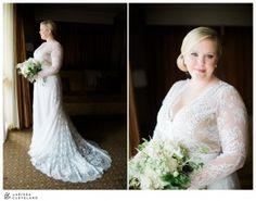 Beautiful lace gown from Carolina Herrera